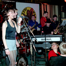 Ascetic & Refugees of the Groove at Akwarium, Warsaw, on March 24, 2000. Photo • Tadeusz Pękacz Sr.